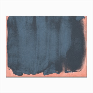 Minimal Abstract Blue Colorfield Painting 5 Canvas Print