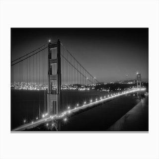 Evening Cityscape of Golden Gate Bridge Canvas Print