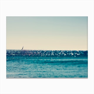 Sail Boat and Sea Canvas Print