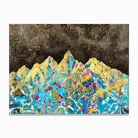 Digital Painting - Mountain Illustration I Canvas Print