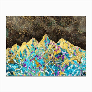 Digital Painting - Mountain Illustration I Canvas Print