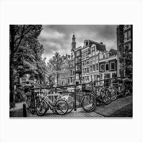 Amsterdam Flower Canal Canvas Print