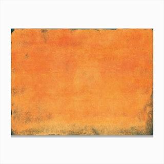 Minimal Orange Abstract Colorfield Painting 1 Canvas Print