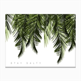Stay Salty Green Canvas Print