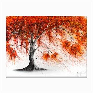 Crisp Amber Tree Canvas Print