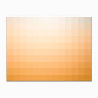 Lumen 11, Amber and White Gradient Canvas Print