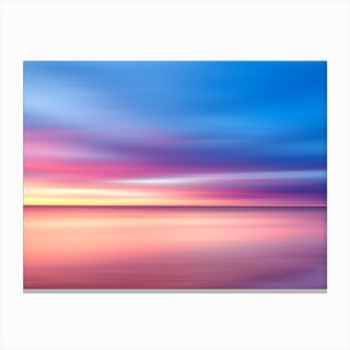 Abstract Sunset V Canvas Print