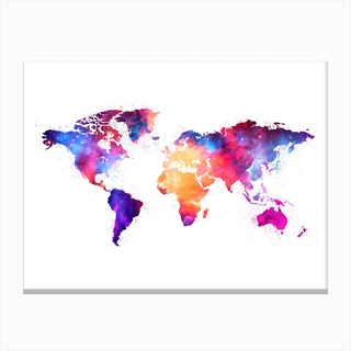 Artistic World Map V Canvas Print