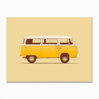 Yellow Van Canvas Print