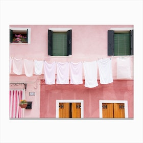 Dirty Laundry In Canvas Print