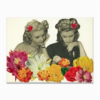 Flower Collectors Canvas Print