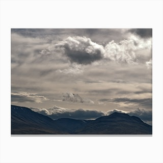 Clouds Rolling Over Canvas Print