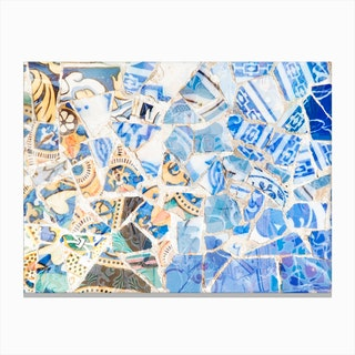 Mosaic of Barcelona XII Canvas Print