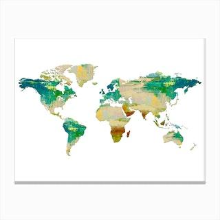 Artistic World Map I Canvas Print