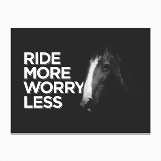 Ride More Canvas Print