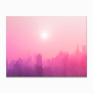 Pink City Skyline Canvas Print