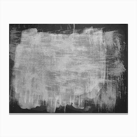Minimal Abstract Black And White Painting 7 Canvas Print