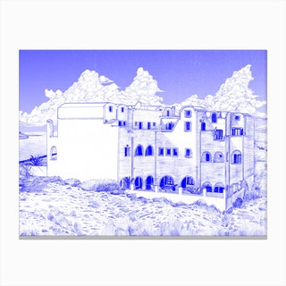 Astir Thira Hotel Canvas Print