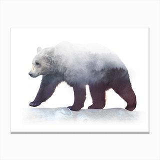 Bear On Wild Canvas Print