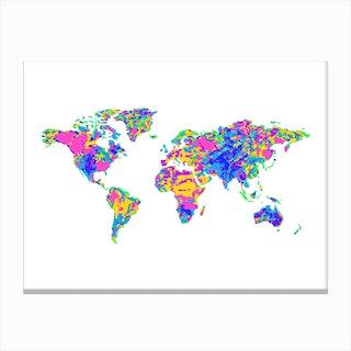 Artistic World Map Vi Canvas Print