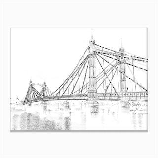 Albert Bridge Ii Canvas Print