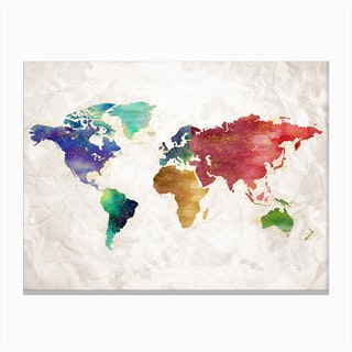 Artistic World Map Ii Canvas Print