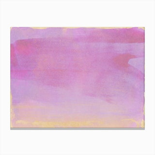Minimal Abstract Lilac Colorfield Painting 1 Canvas Print