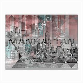 Modern Art Manhattan Collage Canvas Print