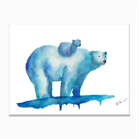 Polar Bears  I Canvas Print