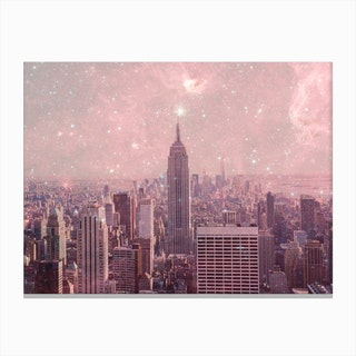 Stardust Covering NY in Canvas Print