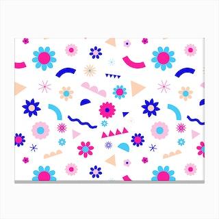 Flower Bomb Magenta Canvas Print