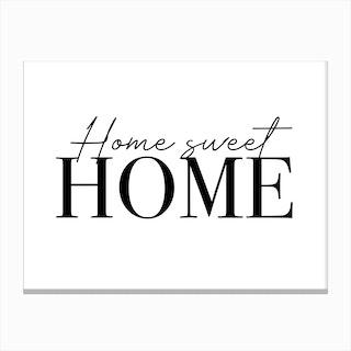 Home Sweet Home Cute Canvas Print