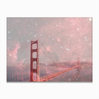 Stardust Covering SF in Canvas Print