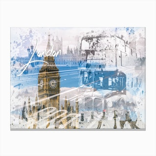 City Art Westminster Collage Canvas Print