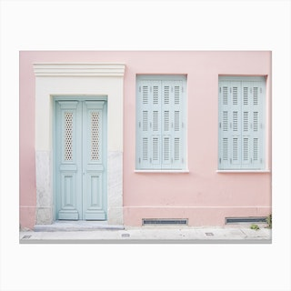 Pastel Palace In Canvas Print