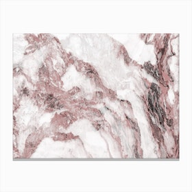 Pink and White Marble Mountain I Canvas Print