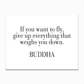 Buddha Quote Canvas Print