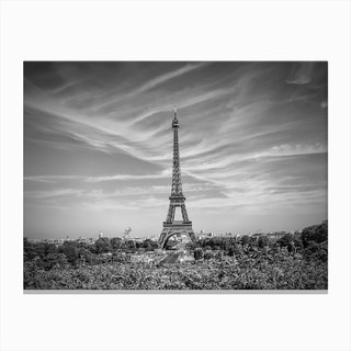 Paris Eiffel Tower With Skyline Canvas Print