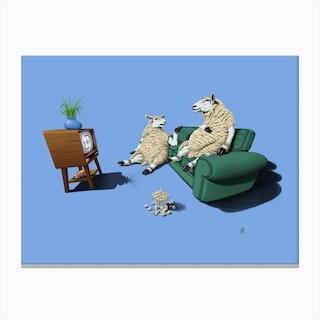 Sheep (Colour) Canvas Print