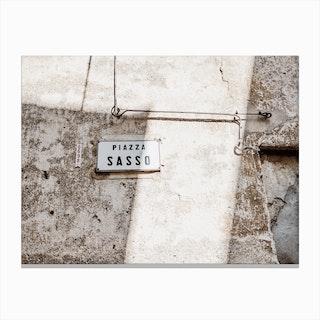 Piazza Sasso Canvas Print