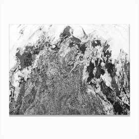Black and White Marble Mountain I Canvas Print