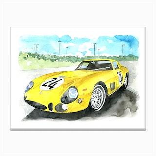 Vintage Ferrari Canvas Print