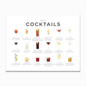Classic Cocktails Landscape Canvas Print