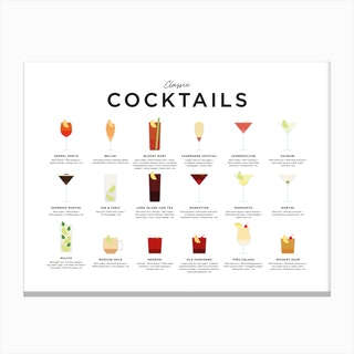 Classic Cocktails Landscape Canvas Print