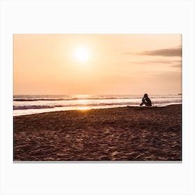 Sunset Beach 3 Canvas Print