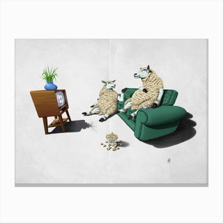 Sheep (Wordless) Canvas Print