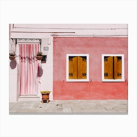 Pink Palace In Canvas Print