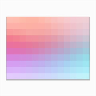 Lumen 02, Pink and Lilac Gradient Canvas Print
