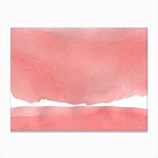 Minimal Pink Abstract 04 Landscape Canvas Print