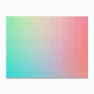 Lumen 01, Pink and Teal Gradient Canvas Print